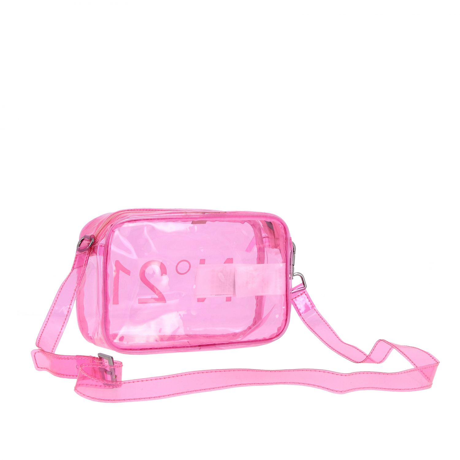 N ° 21 shoulder bag in pvc pink 2