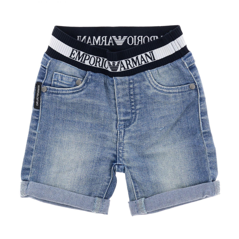 Jeans Emporio Armani in denim used con fascia logata denim 1