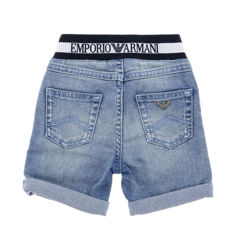 Jeans Emporio Armani in denim used con fascia logata denim 2