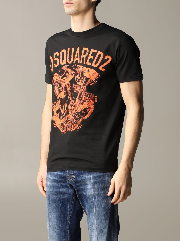 T-shirt herren Dsquared2 schwarz 4