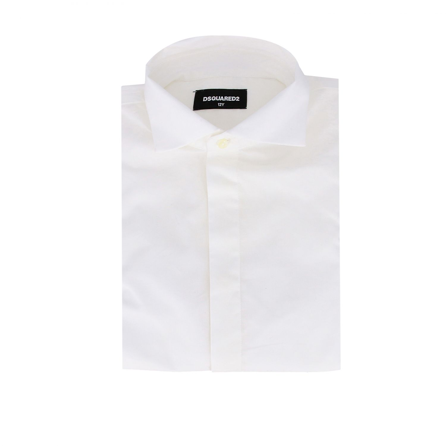 Dsquared2 Junior shirt with French collar white 1