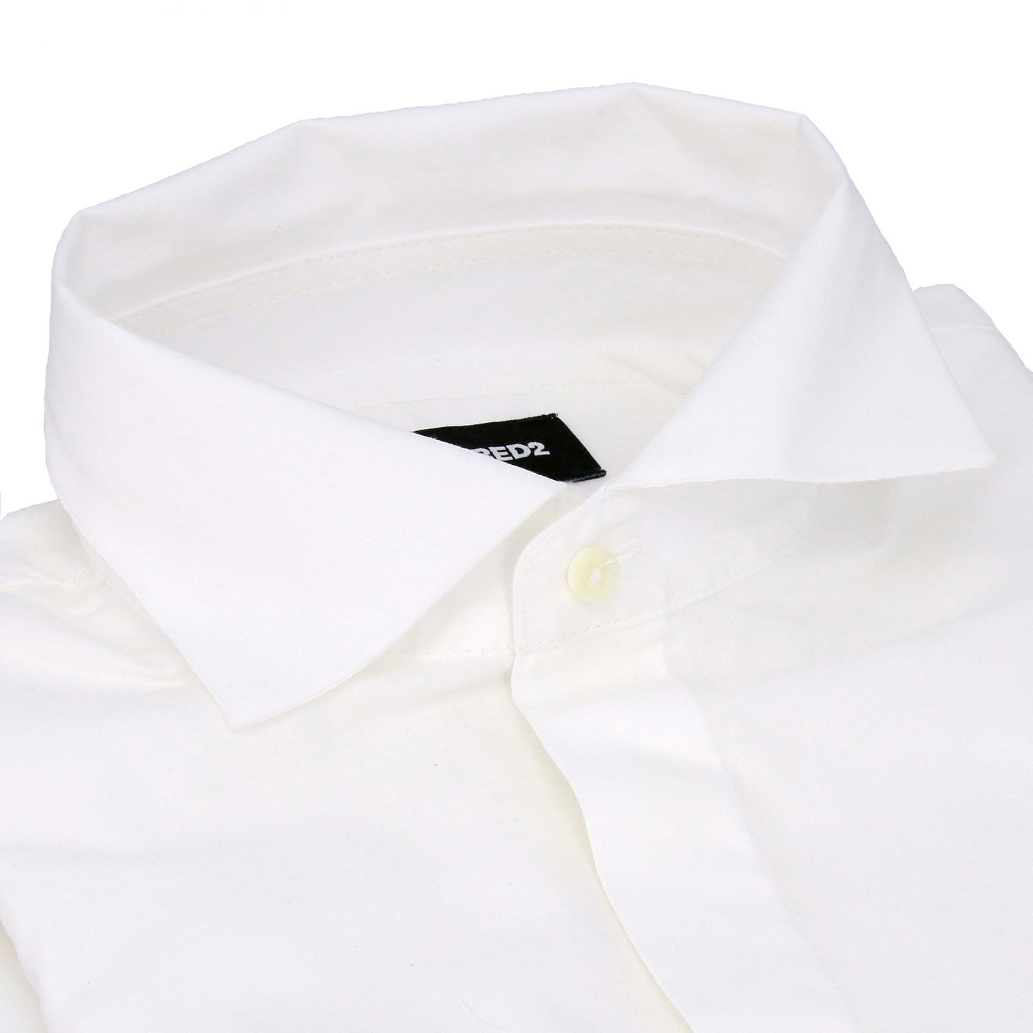 Dsquared2 Junior shirt with French collar white 2