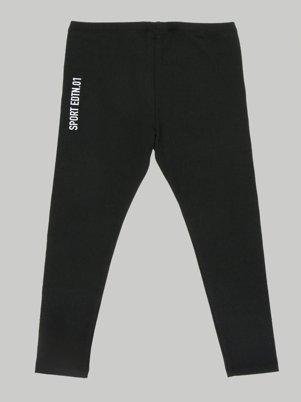 Pantalone Dsquared2 Junior: Leggings Dsquared2 Junior in tessuto stretch con bande logate nero 2