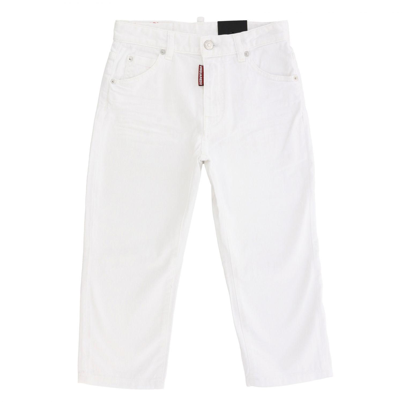 Dsquared2 Junior Jeans mit 5 Taschen fuchsia 1