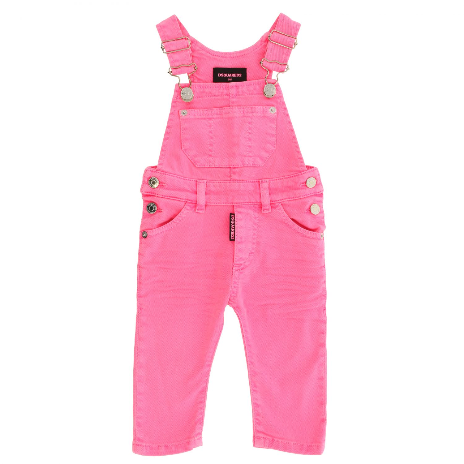 Dsquared2 Junior denim dungarees fuchsia 1