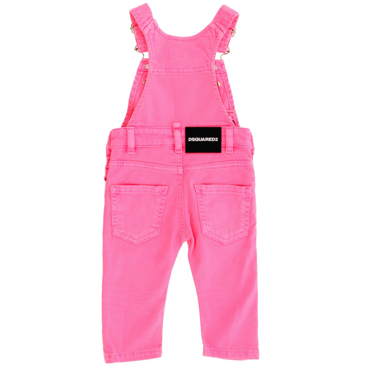 Dsquared2 Junior denim dungarees fuchsia 2