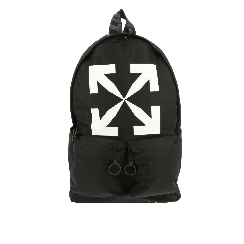 Zaino Off White in nylon con big logo nero 1