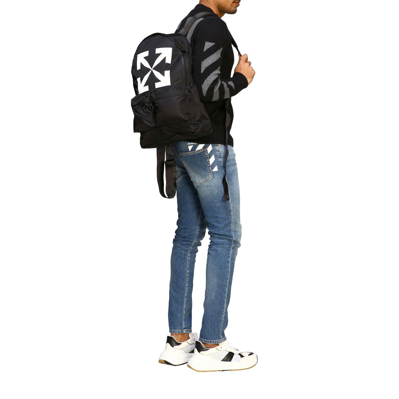 Zaino Off White in nylon con big logo nero 2
