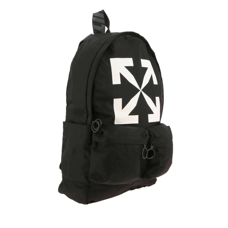 Zaino Off White in nylon con big logo nero 3
