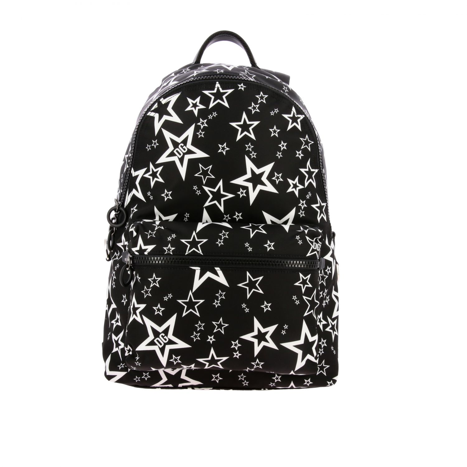 Backpack Dolce & Gabbana: Dolce & Gabbana canvas backpack with all over star print black 1
