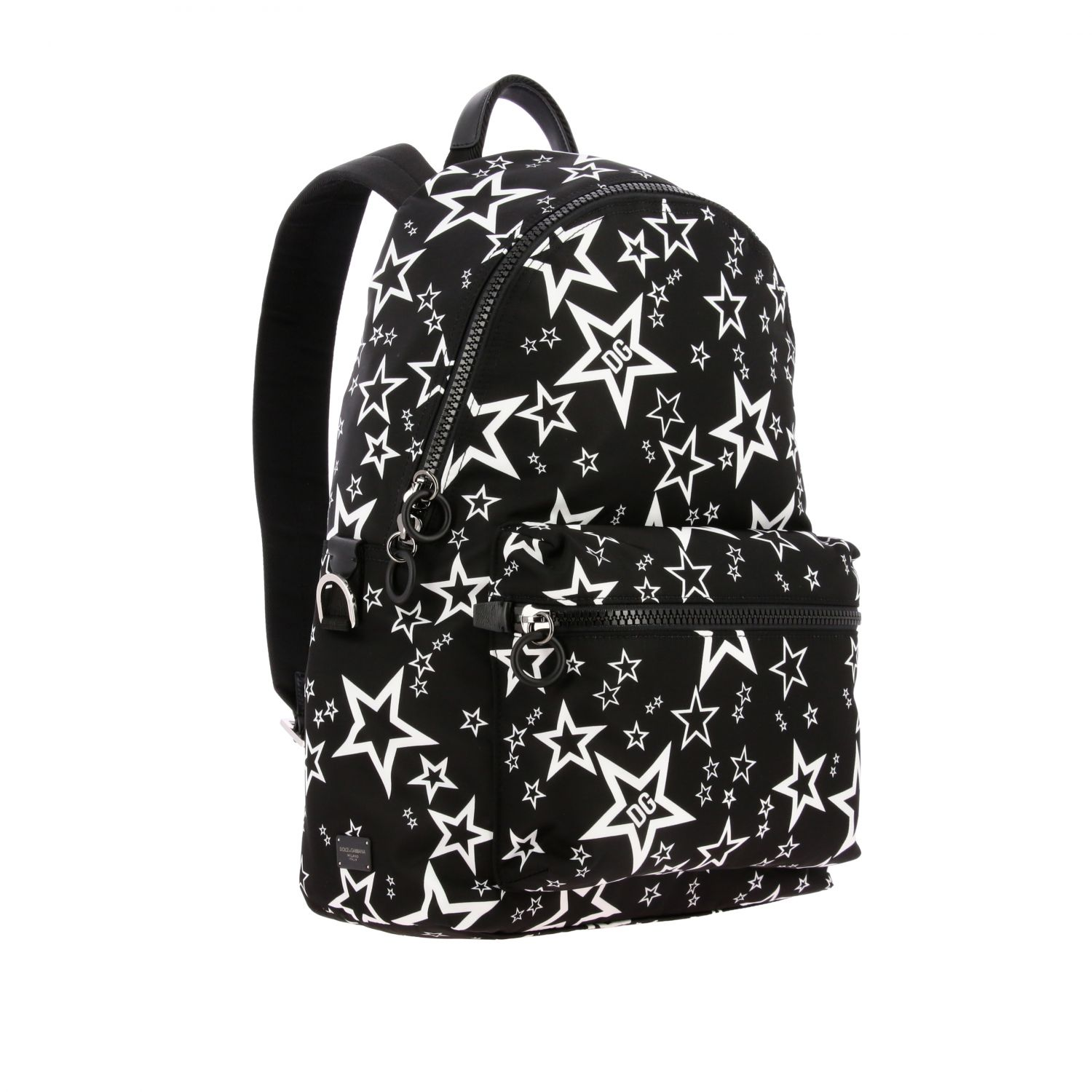 Backpack Dolce & Gabbana: Dolce & Gabbana canvas backpack with all over star print black 2