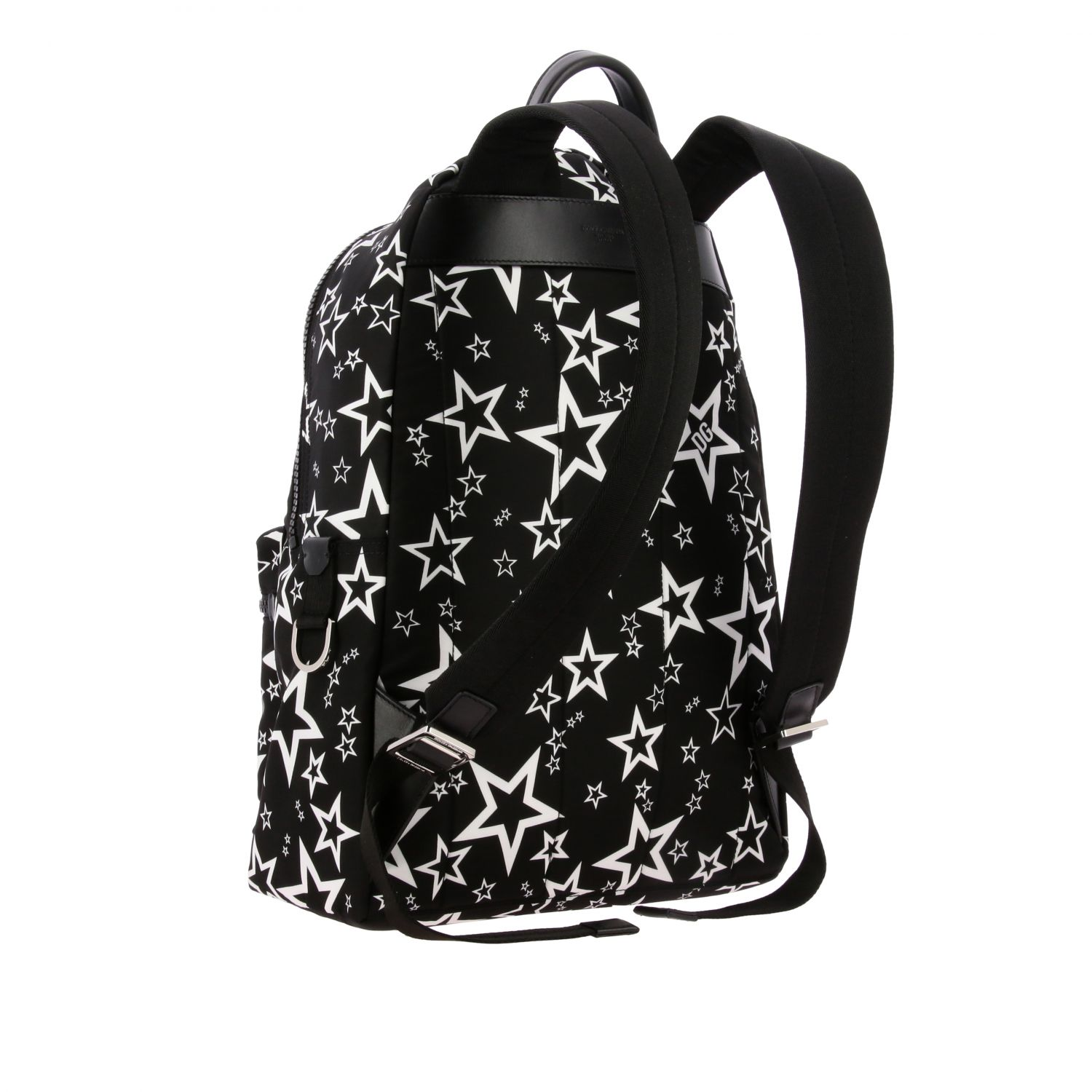 Backpack Dolce & Gabbana: Dolce & Gabbana canvas backpack with all over star print black 3