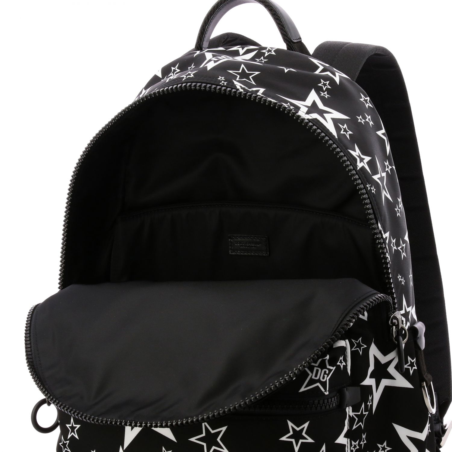 Backpack Dolce & Gabbana: Dolce & Gabbana canvas backpack with all over star print black 5