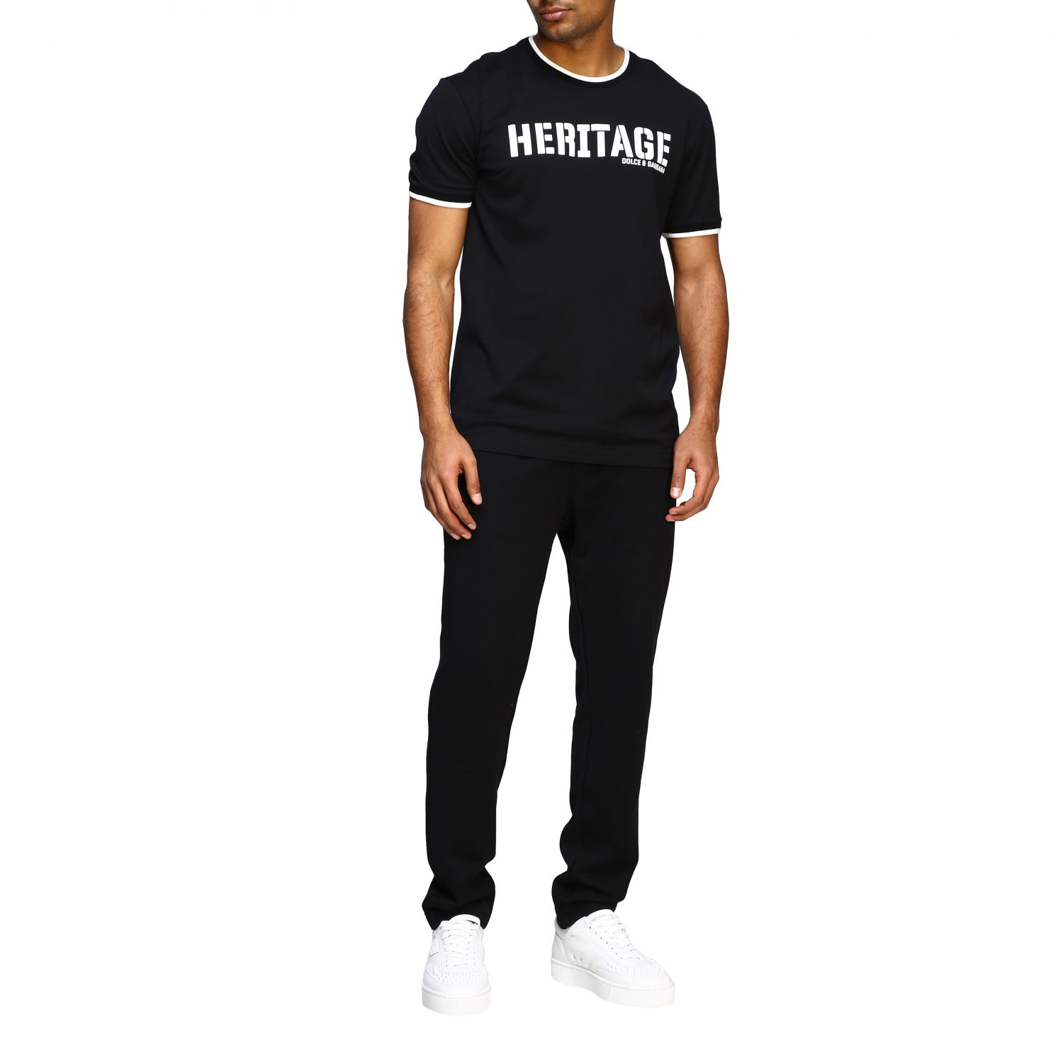 T-shirt Dolce & Gabbana: Dolce & Gabbana short-sleeved T-shirt with Heritage print black 2
