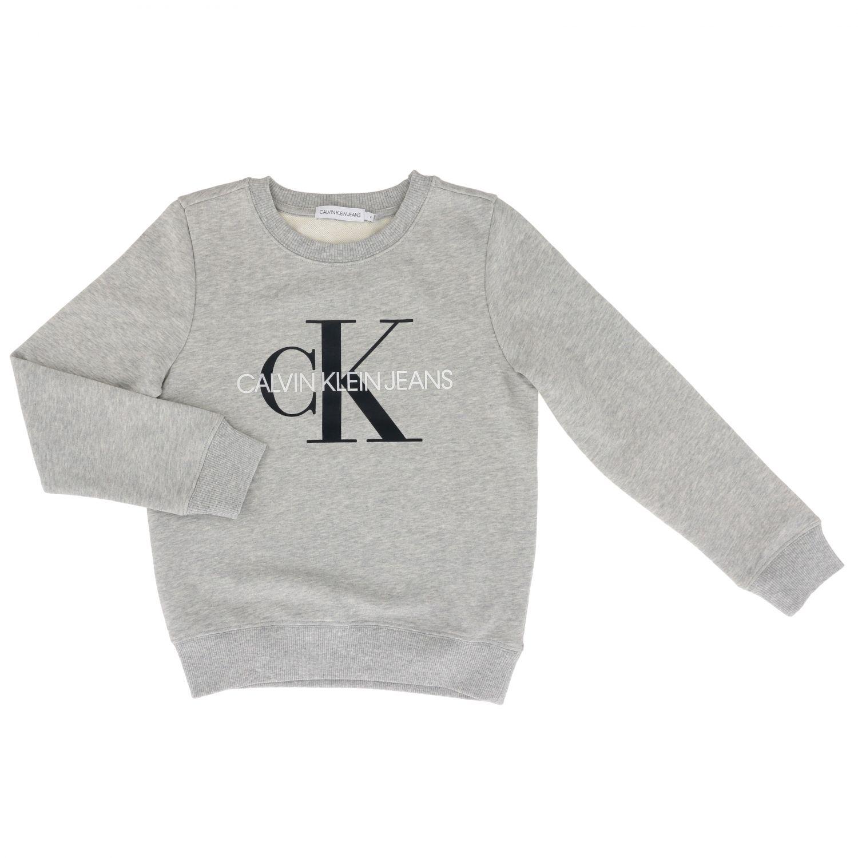 Maglia Calvin Klein: Felpa Calvin Klein con monogramma CK grigio 1