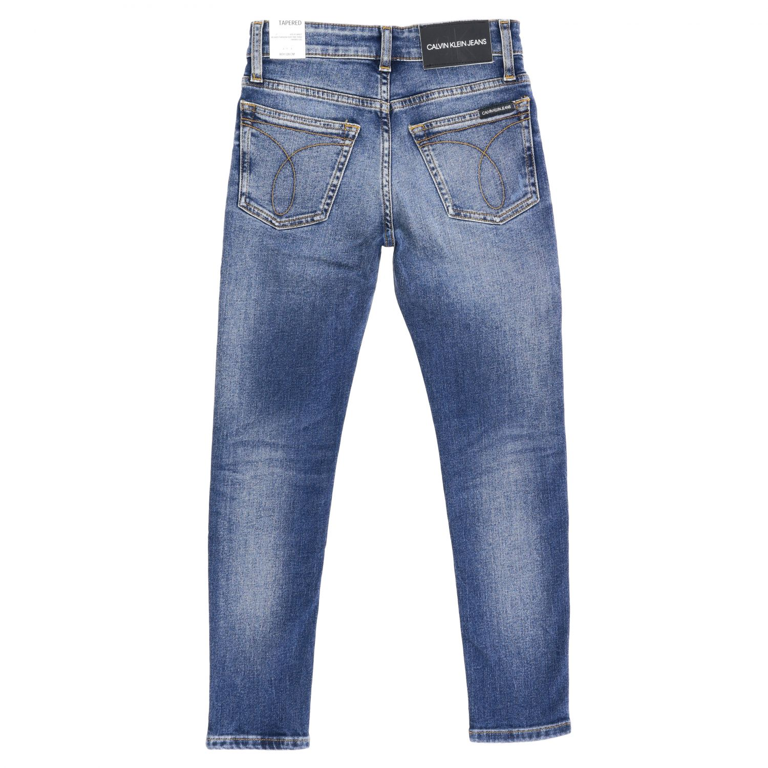 Calvin Klein jeans in used denim with tears blue 2