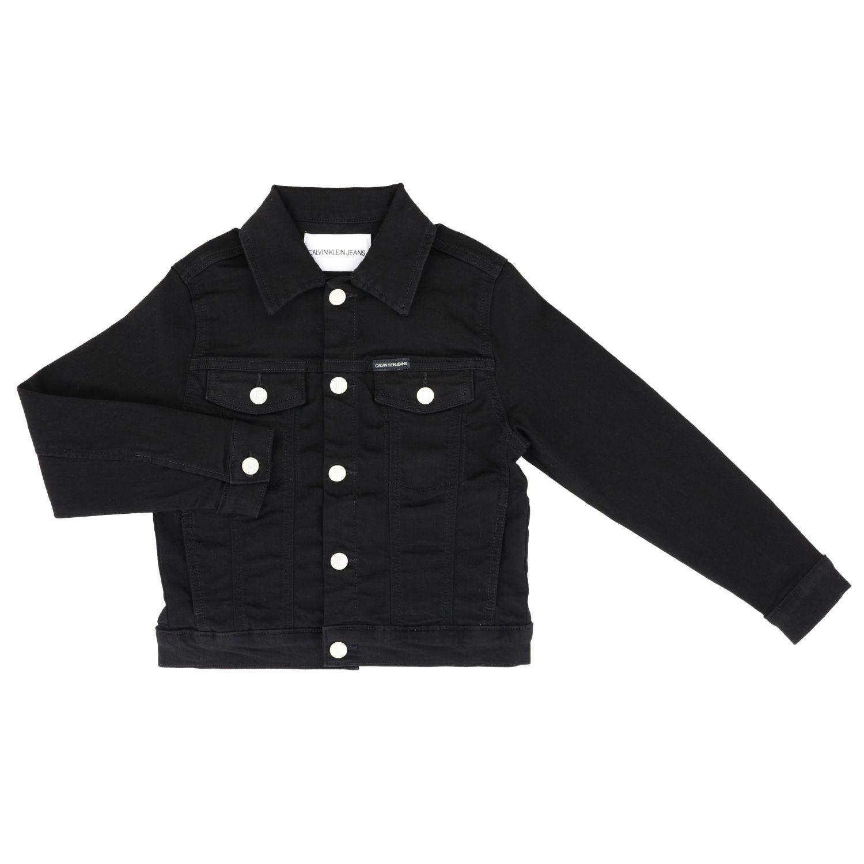 Calvin Klein denim jacket with rear monogram black 1