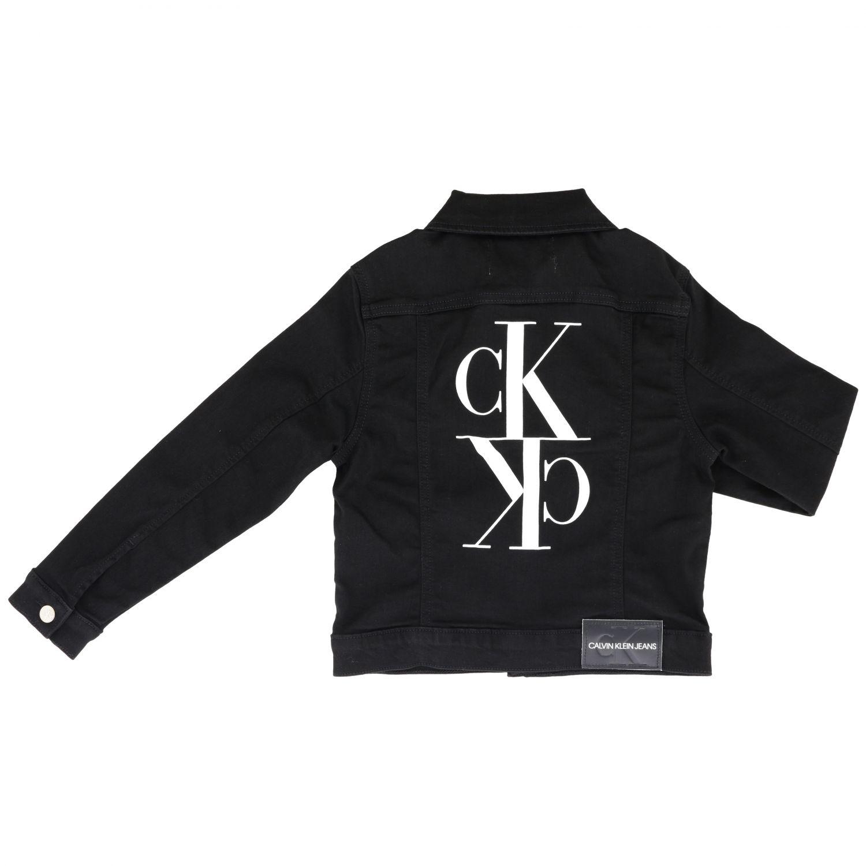 Calvin Klein denim jacket with rear monogram black 2