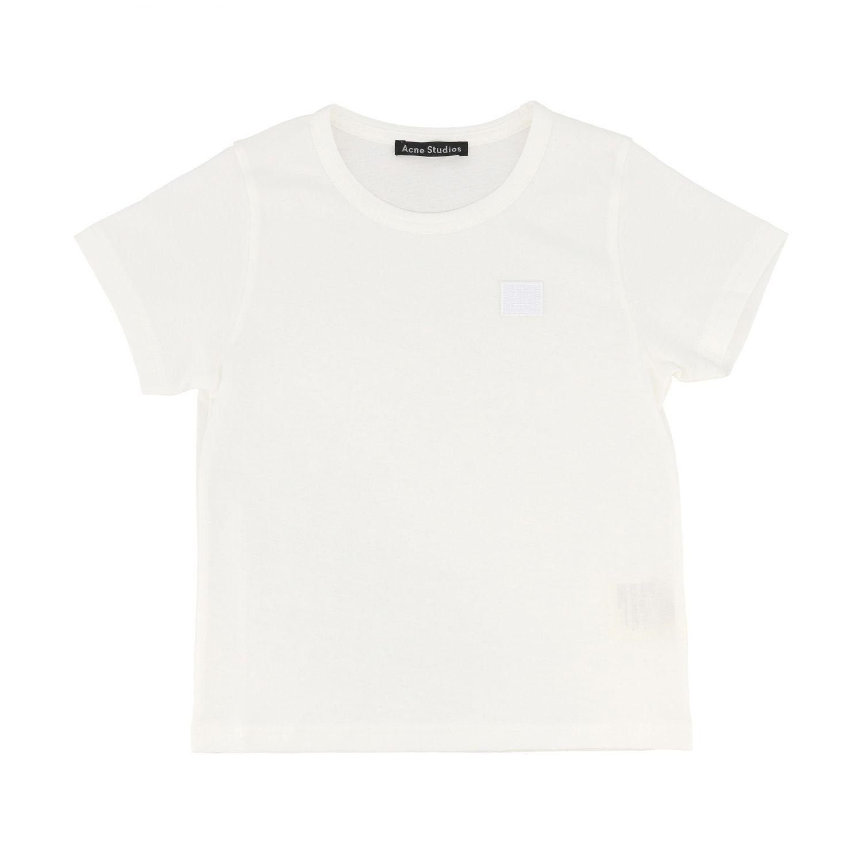 T-shirt Acne Studios: Acne Studios short-sleeved T-shirt with logo white 1