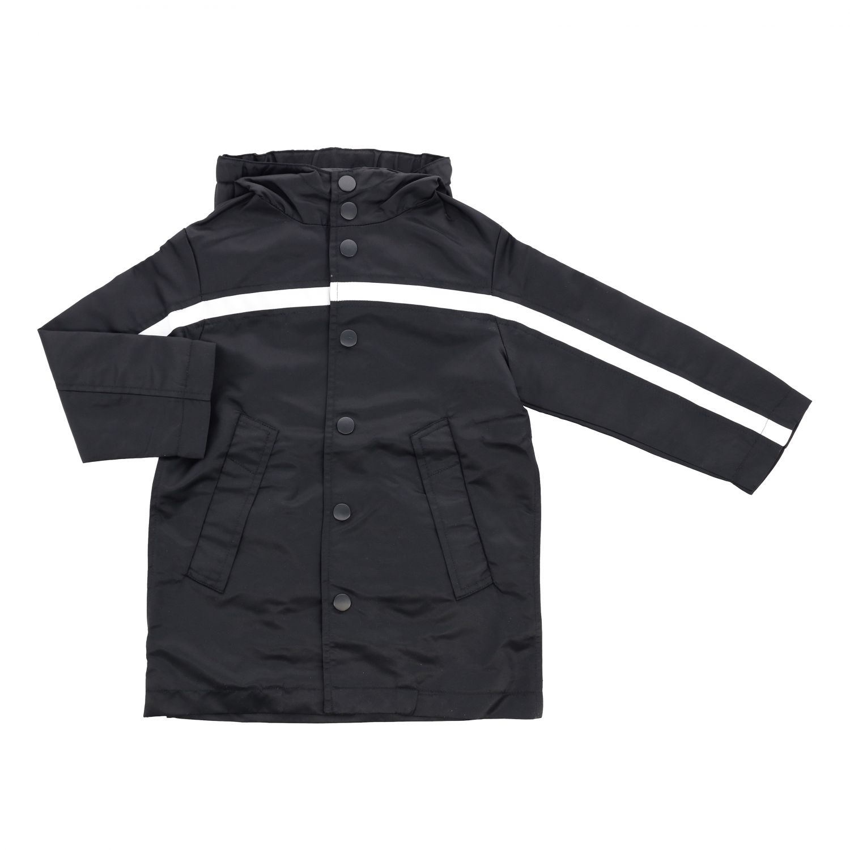 Куртка N° 21: Куртка с капюшоном и логотипом Детское N° 21 черный 1