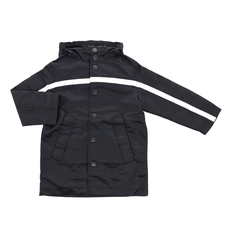 Jacket N° 21: Windbreaker N ° 21 with hood and maxi logo black 1