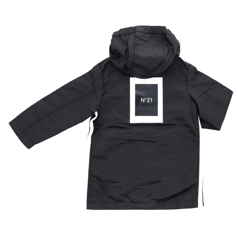 Куртка N° 21: Куртка с капюшоном и логотипом Детское N° 21 черный 2