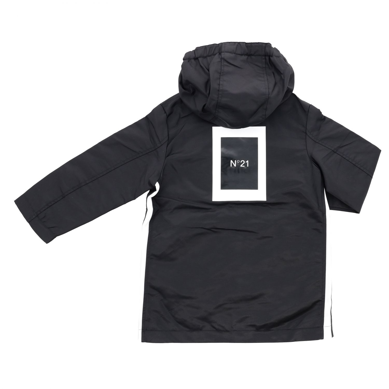Jacket N° 21: Windbreaker N ° 21 with hood and maxi logo black 2
