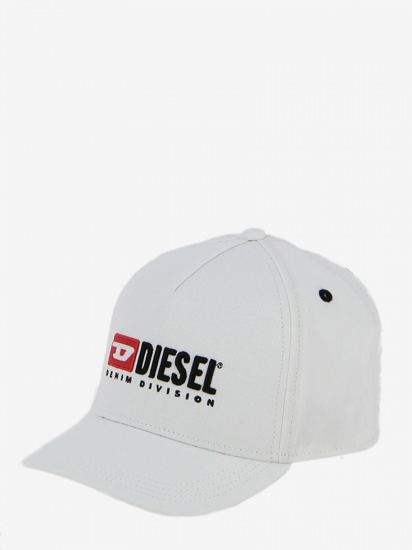 Cappello Diesel stile baseball con logo bianco 1