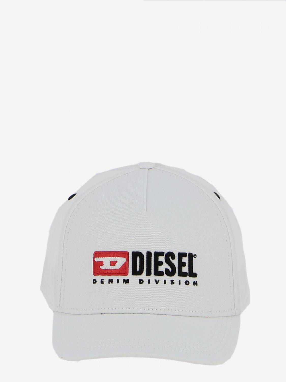 Cappello Diesel stile baseball con logo bianco 2