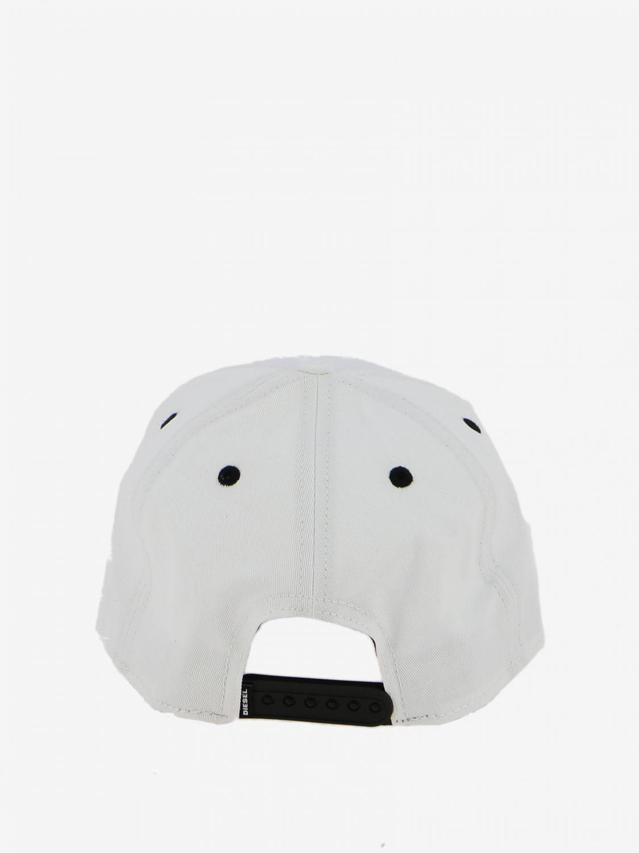 Cappello Diesel stile baseball con logo bianco 3