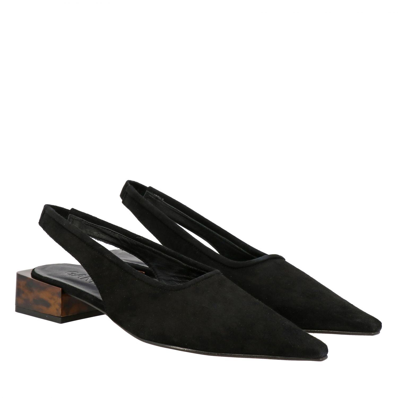 High heel shoes Ganni: Ballet pumps women Ganni black 2