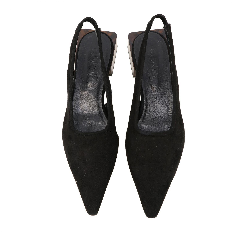 High heel shoes Ganni: Ballet pumps women Ganni black 3
