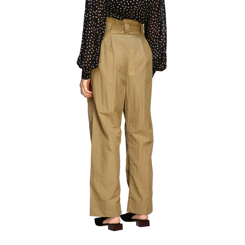 Pantalone Ganni ampio con cinta beige 3