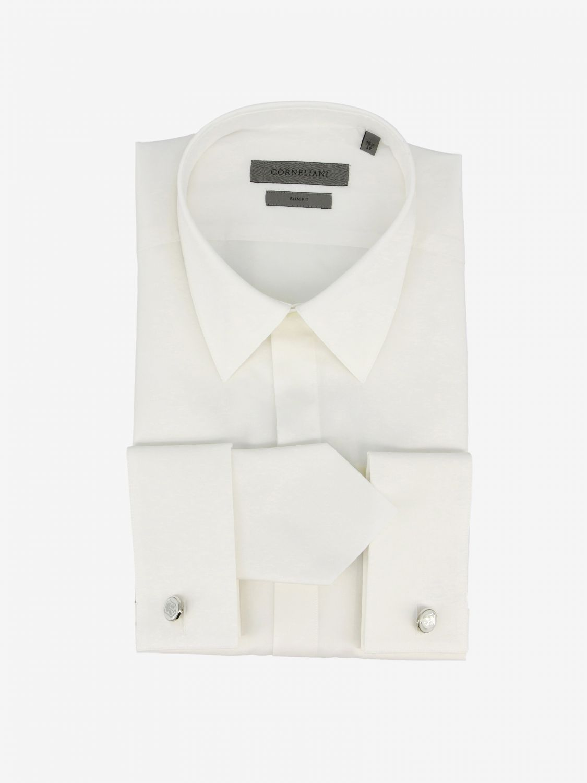 Shirt Corneliani: Shirt men Corneliani white 1
