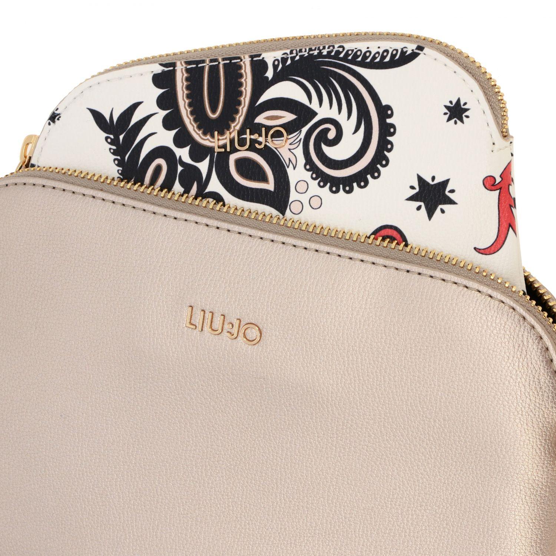 Liu Jo bag with patterned clutch bag gold 3