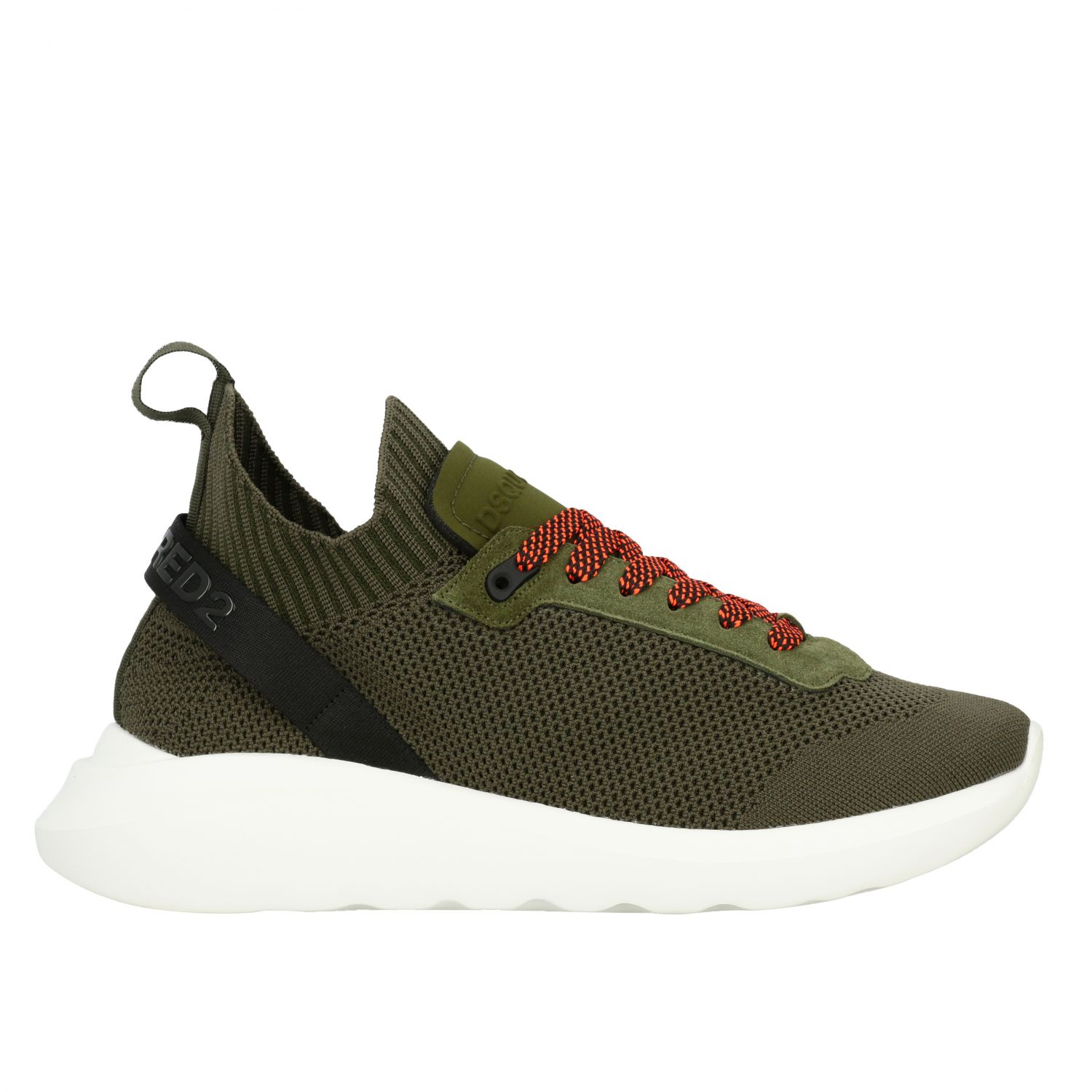 Sneakers Dsquared2: Dsquared2 slip on sneakers in mesh with logo military 1