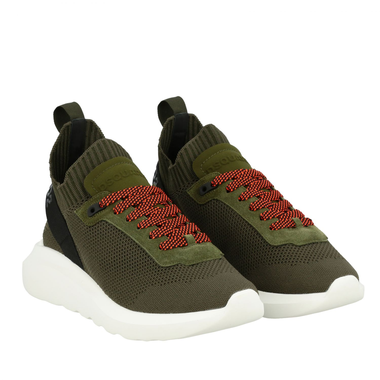 Sneakers Dsquared2: Dsquared2 slip on sneakers in mesh with logo military 2