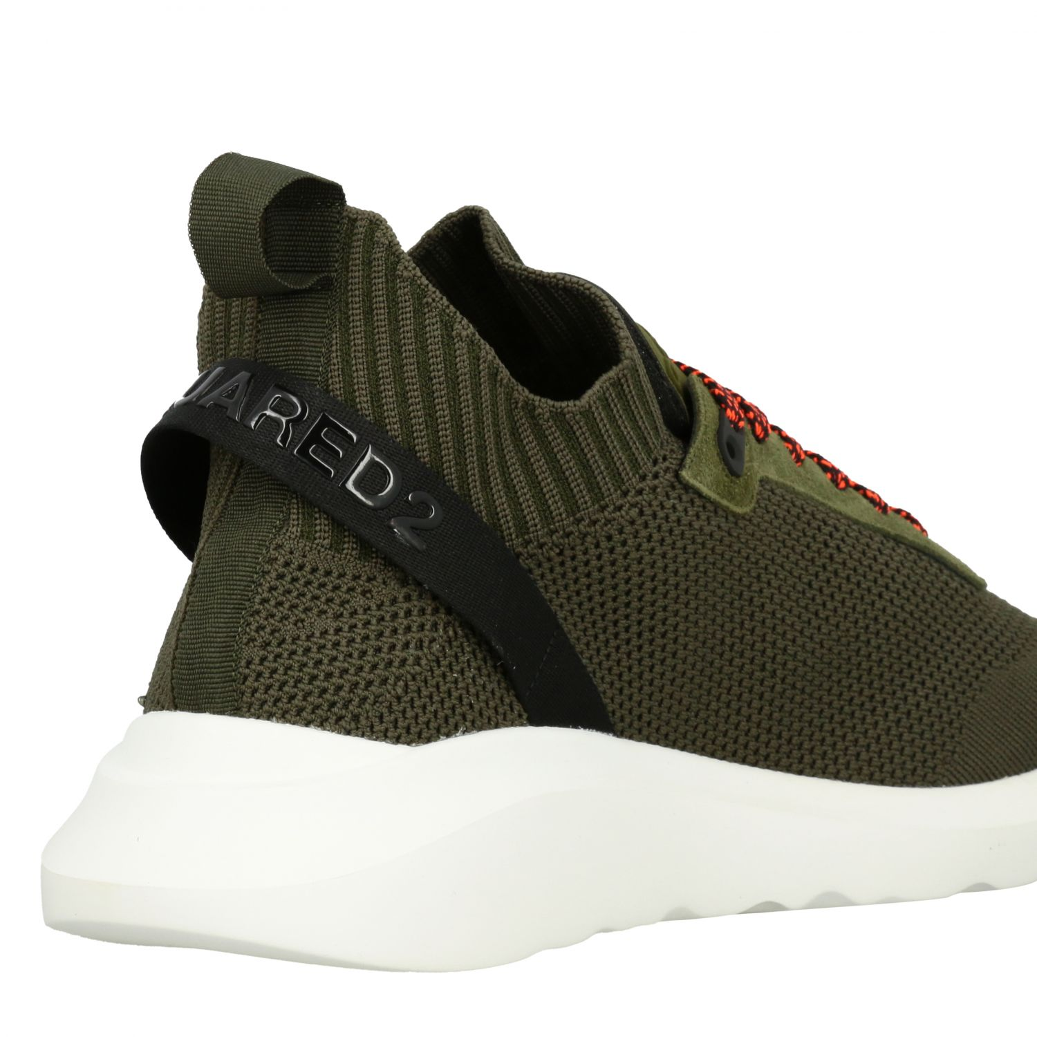 Sneakers Dsquared2: Dsquared2 slip on sneakers in mesh with logo military 5