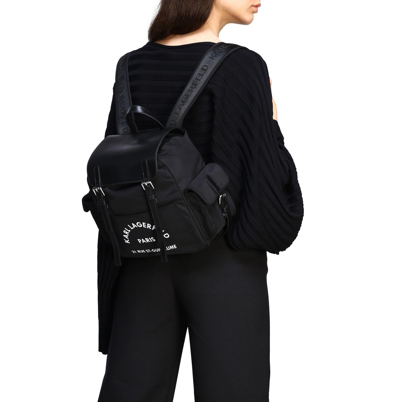 双肩包 女士 Karl Lagerfeld 黑色 2