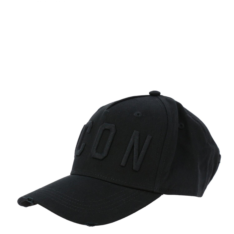Cappello Dsquared2 stile baseball con logo Icon nero 1