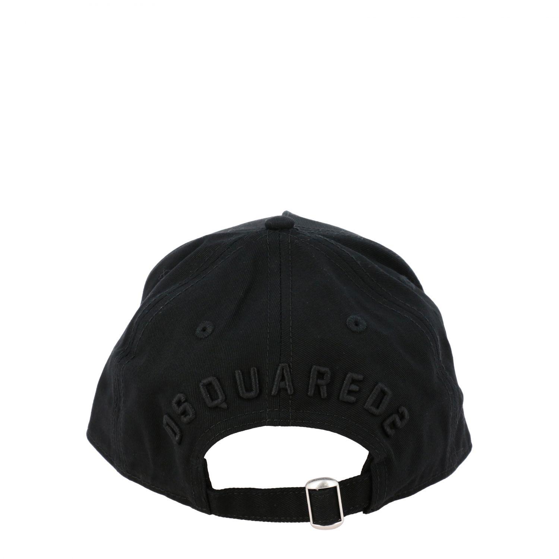 Cappello Dsquared2 stile baseball con logo Icon nero 3