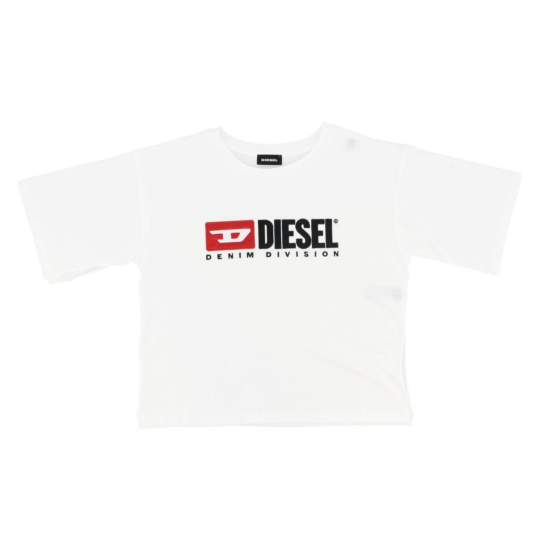 T-shirt Diesel: T-shirt Diesel a maniche corte con stampa logo nero 1