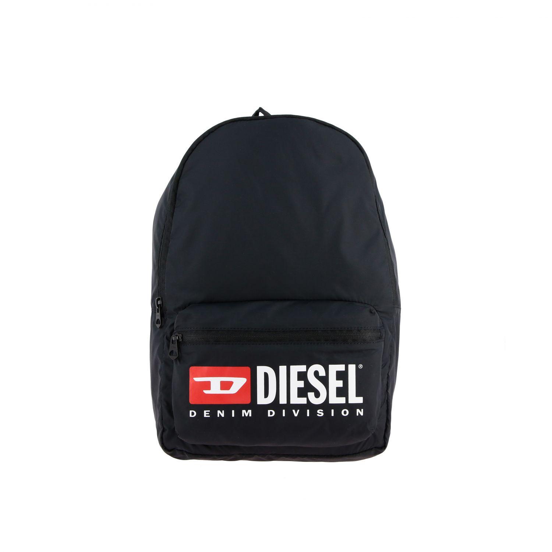 Borsa Diesel: Zaino Diesel in nylon con big logo nero 1