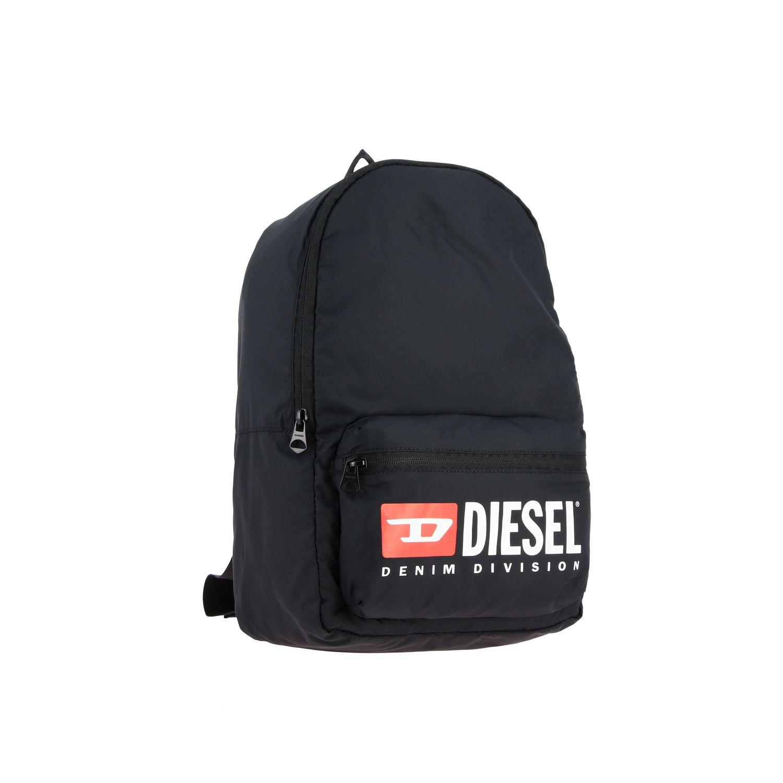 Borsa Diesel: Zaino Diesel in nylon con big logo nero 2