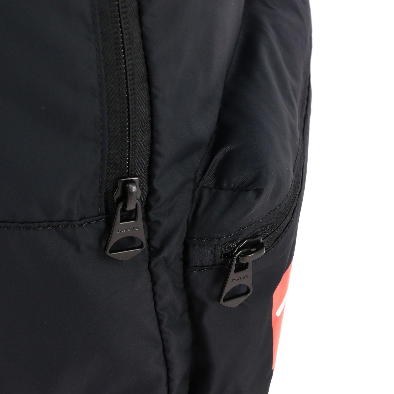 Borsa Diesel: Zaino Diesel in nylon con big logo nero 4