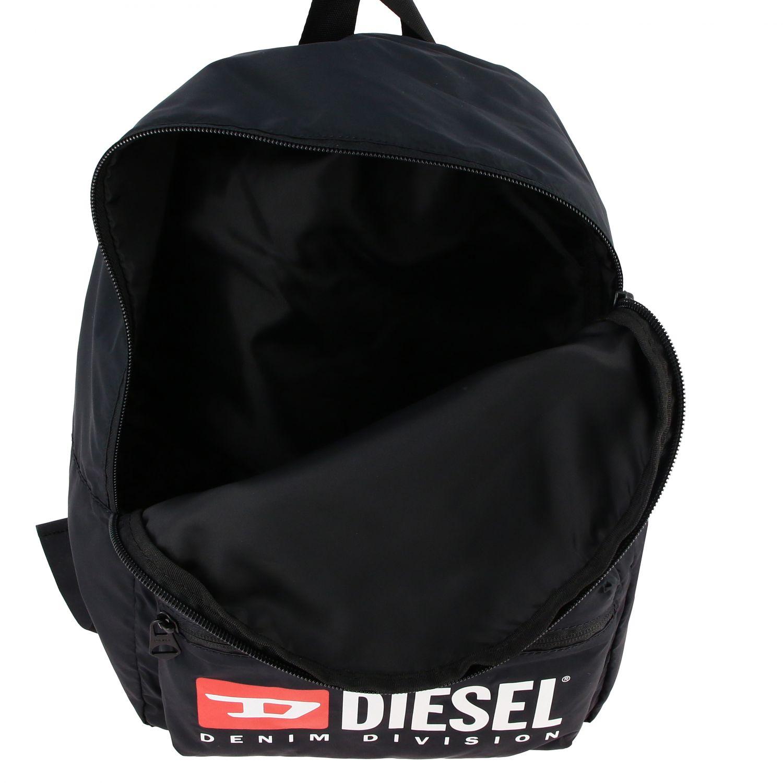 Borsa Diesel: Zaino Diesel in nylon con big logo nero 5
