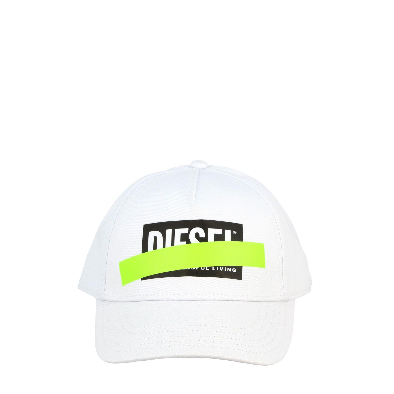 Cappello Diesel stile baseball con stampa logo bianco 2