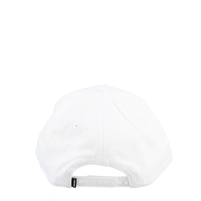 Cappello Diesel stile baseball con stampa logo bianco 3