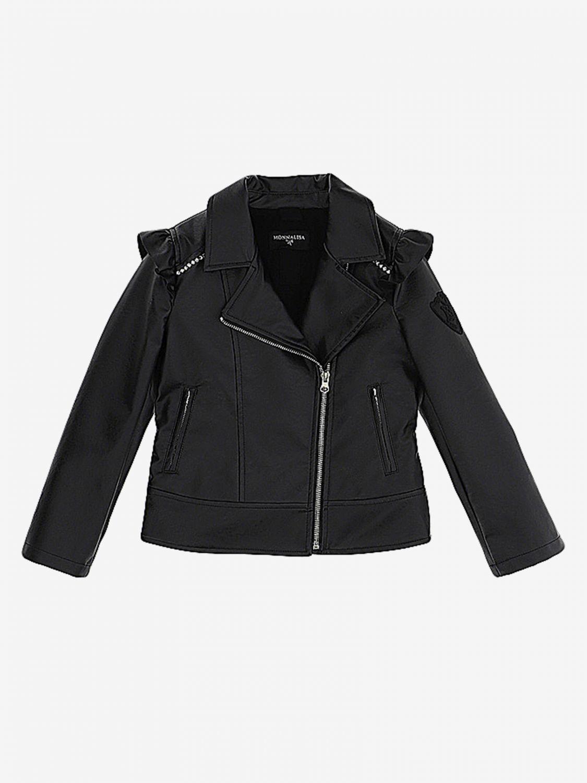 Monnalisa 拉链外套 黑色 1