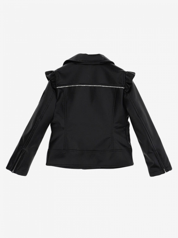 Monnalisa 拉链外套 黑色 2